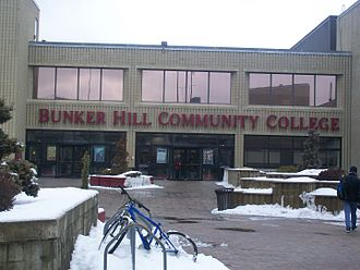 "Bunker Hill Community College - The main entrance to Bunker Hill Community College (The ""B"" building)"