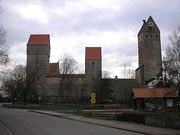 Burg Nassenfels (Landkreis Eichstätt, Oberbayern). Gesamtansicht von Norden. Eigene Aufnahme, Dez. 2006 / Nassenfels castle between Neuburg and Eichst...