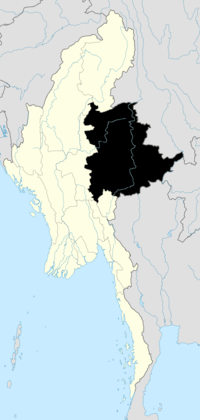 Location o Shan State in Burma