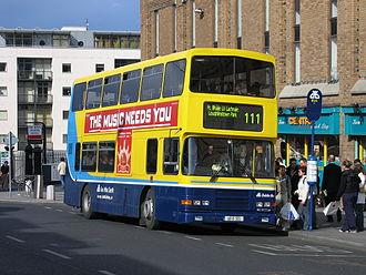 Public transport operators in Dublin - Dublin Bus double-decker in Dún Laoghaire