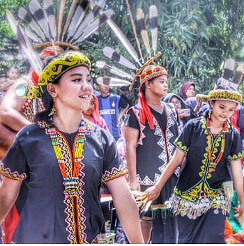 Busana Tradisional Adat Dayak