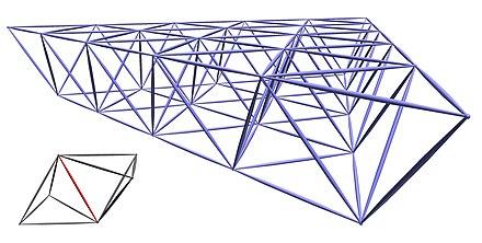 R umliches fachwerk z b als tragwerk eines dachs unten for Fachwerk kran