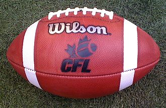 Comparison of American and Canadian football - Image: CFL football
