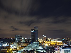 CIS Tower - CIS Tower at night.