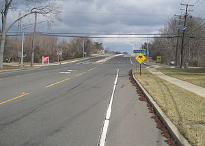 County Route 583 (New Jersey) - CR 583 northbound approaching I-95