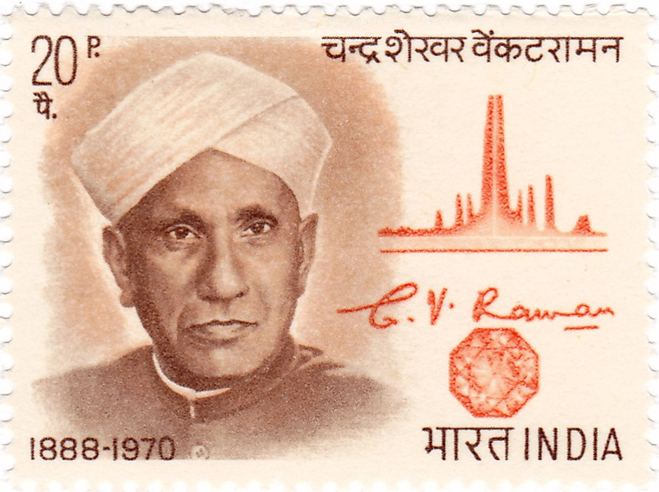 CV Raman 1971 stamp of India