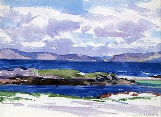 Portland Gallery - Iona by Francis Cadell (1883–1937), exhibited at the Portland Gallery