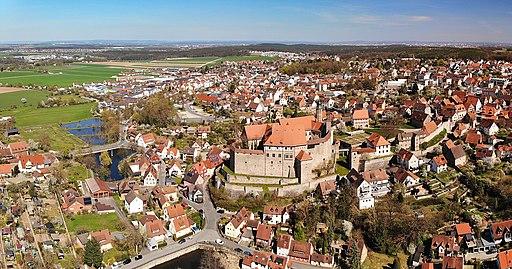Cadolzburg Ortskern Panorama (2020)