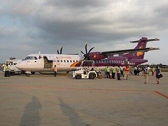 Phnom Penh International Airport - Cambodia national air carrier Cambodia Angkor Air at Phnom Penh International Airport.
