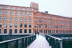 Vy over Kåkenhus, Campus Norrköping, Linköpings universitet.