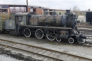 Canadian National 47 - Image: Canadian National steam locomotive 47 4 6 4T at Steamtown National Historic Site 11 Nov 2011 right