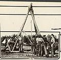 Canadian engineers building a derrick and bridge (19537745271).jpg