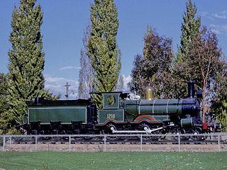 Z1210 preserved Australian 4-4-0 locomotive
