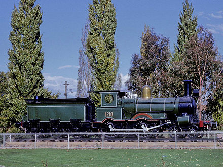1210 on the plinth outside the station it occupied from January 1962 until September 1984 Canberra 1210.jpg