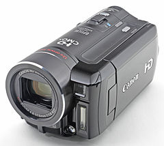 Small, black camcorder