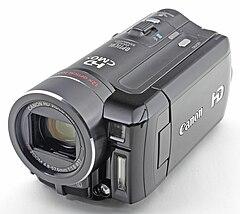 Máy quay phim nhỏ, màu đen