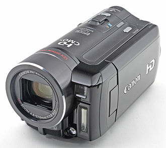 Camcorder - A Canon VIXIA HF10 camcorder; this is one of Canon's first AVCHD format Flash Memory Full HD camcorders