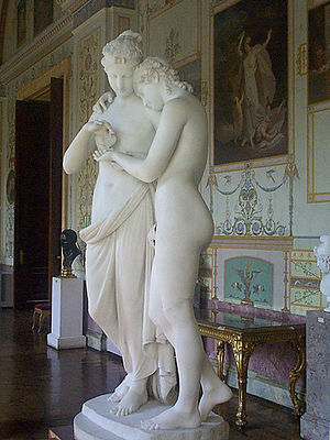 Cupid and Psyche (Capitoline Museums) - Cupid and Psyche by Antonio Canova, 1808 (Hermitage Museum, St Petersburg)