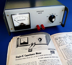 Harry Garland - Capacitance meter designed by Harry Garland and Roger Melen introduced in Popular Electronics magazine in 1974.