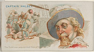 John Halsey (privateer) - Image: Captain Halsey, The Dutchman Acquainted them of this Error, from the Pirates of the Spanish Main series (N19) for Allen & Ginter Cigarettes MET DP835007