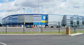 Cardiff City Stadium - Completion of the Canton Stand (left) and the Grandstand (right)