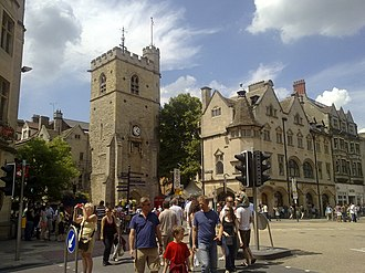 """St Scholastica Day riot - The Carfax Tower, dated from the 13th century, """"witnessed"""" the described events"""