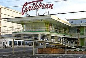"Wildwood Crest, New Jersey - The Caribbean Motel, an architectural landmark of the ""Doo Wop"" era."