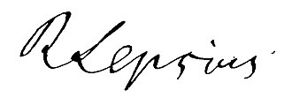 Karl Richard Lepsius - Image: Carl Richard Lepsius signature