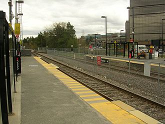 Trillium Line - Carleton is the only station with two platforms.