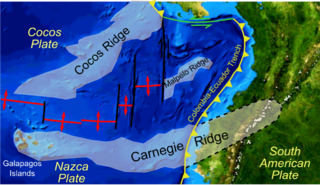 Carnegie Ridge An aseismic ridge on the Nazca Plate that is being subducted beneath the South American Plate