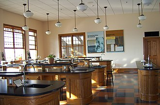 George Washington Carver National Monument - The visitor center includes a classroom modeled after one of the Carver's labs at the Tuskegee Institute.