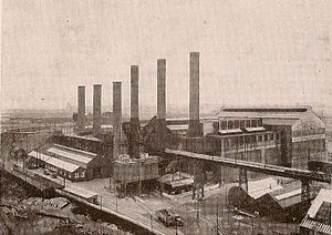 Carville power stations - Carville A (left) and B (right) power stations viewed in the 1930s