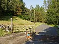 Cattle Grid and Gate on road in Glen Buckie - geograph.org.uk - 48891.jpg