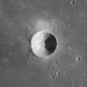 Cauchy (crater) - Lunar Orbiter 4 image