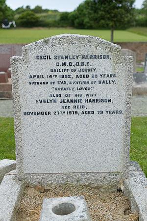 Cecil Stanley Harrison - Image: Cecil Stanley Harrison gravestone, Jersey