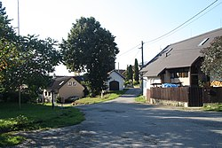 Center of Račice, Žďár nad Sázavou District.jpg