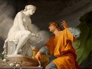 Pygmalion (mythology) - Pygmalion by Jean-Baptiste Regnault, 1786, Musée National du Château et des Trianons