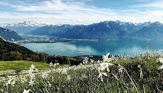 Montreux Place in Vaud, Switzerland