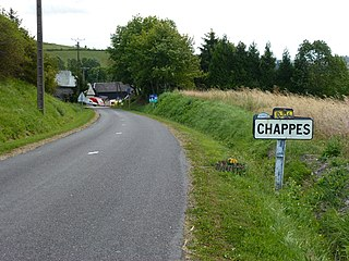 Chappes (Ardennes) city limit sign.JPG