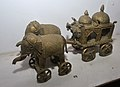 Chariot Drawn with Elephant Riders - Bronze - Circa 19th Century CE - ACCN V-82 - Government Museum - Mathura 2013-02-24 6524.JPG