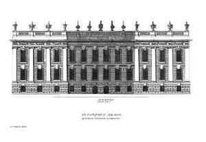 William Talman (architect) - The South Front of Chatsworth from Colen Campbell's Vitruvius Britannicus.