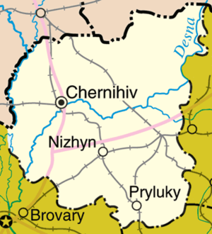 Chernihiv Oblast - Detailed map of Chernihiv Oblast.