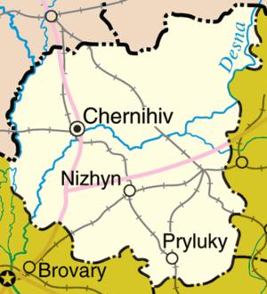 Chernihiv Oblast - Detailed map of Chernihiv Oblast.