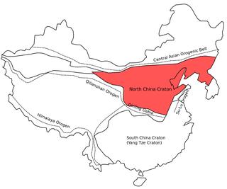 North China Craton continental crustal block in northeast China, Inner Mongolia, the Yellow Sea, and North Korea