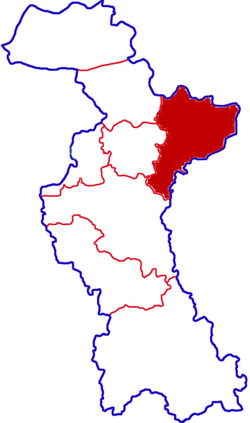Location in Zibo