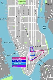 Chinatown Nyc Map Chinatown, Manhattan   Wikipedia