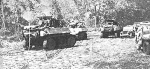 English: TANK CORPS IN ADVANCE TO THE FRONT