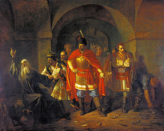 Pavel Chistyakov - The Patriarch, Hermogenes, Refusing to Bless the Poles