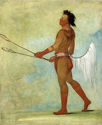 Choctaw Nation of Oklahoma - Choctaw Stickball Player, Painted by George Catlin, 1834