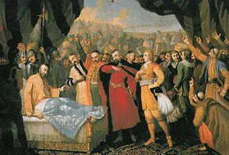 Battle of Khotyn (1621) - The Death of Chodkiewicz, Franciszek Smuglewicz, 1806